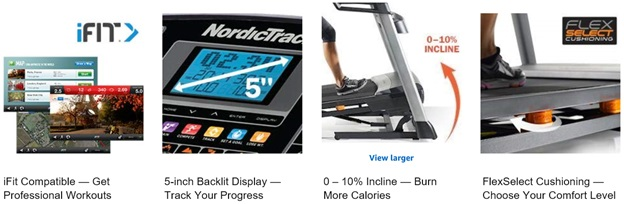 NordicTrack Treadmill Specifications