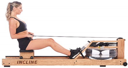 Incline Fit Oak Water Rowing Machine