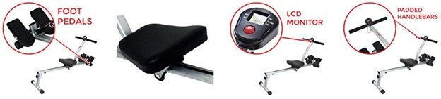 Sunny Health & Fitness Rowing Machine Components