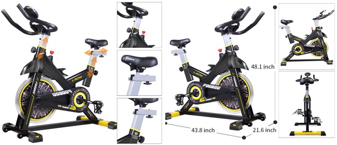pooboo stationary exercise bike