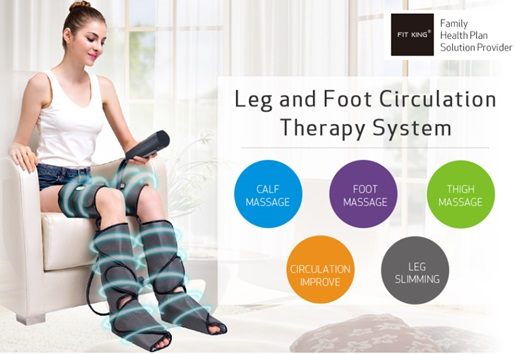 Compression foot massager