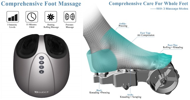 Marnur Shiatsu Home Foot Massager