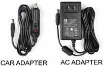 AC and car adapter