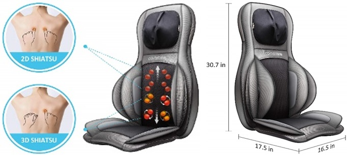 Air compression chair pad massager